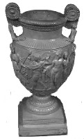 Grecian Urn or Vessel in plaster.  #A153
