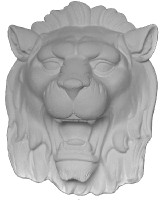 Lion Head Cast Plaster Ornament