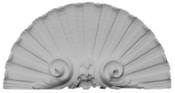 Cast plaster fan with acanthus volutes.  Shell shaped.  #A34