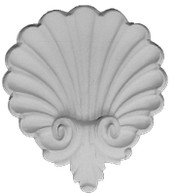 Scalloped Shell A37 with acanthus leaf feature