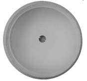 "Beaded Rail - Round D1 Ceiling 36 1/2"" Dome - Cast Plaster"