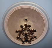 Large Smooth Decorative Cast Plaster Ceiling Dome