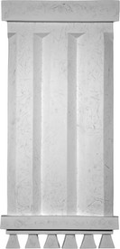 Grooved Decorative Wall Panel - Casting Plaster