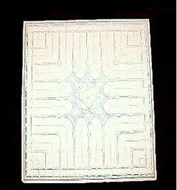 24 x 24 Cast Plaster Ceiling Tile