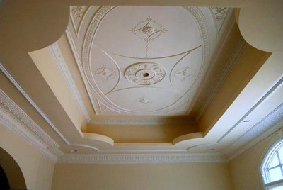 P25 Adams Style Ceiling Panel with other moldings (one is DM734)