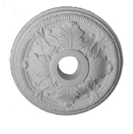 "15"" Medallion featuring Acanthus leaves and Egg & Dart Molding"