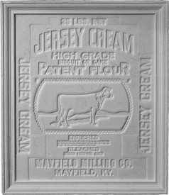 Vintage Jersey Cream / Dairy Theme Cast Plaster Panel