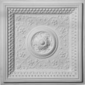 Acanthus Leaf, Dentil and Egg and Dart Molding.  Cast Plaster Ceiling Tiles. 24 x 24