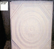 Square Plaster Ceiling Tile, 24 x24, with octagonal and rounded trim.