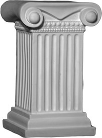 """Cast Plaster, Decorative Tablebase T11 is approximately 15 1/2"""" tall"""