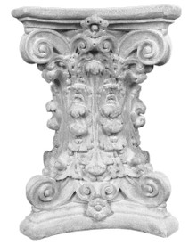 Ordinaire Decorative Plaster Tablebases T2 Featuring Scrolls And Acanthus Leaves