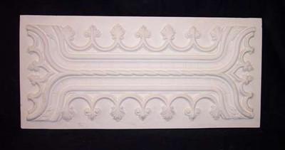 Decorative Panel. Wainscot, with fleur de lis pattern