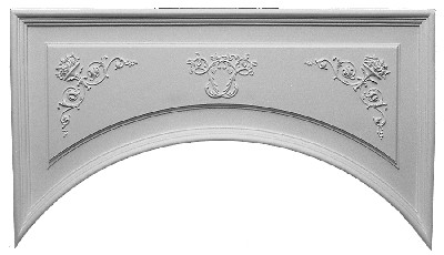 Arched Cast Plaster Wall Panels