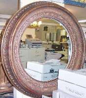 Architectural accent mirrored ring, Cast Plaster