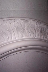 "Architectural ceiling ring R3 - Cast Plaster - featuring acanthus leaves 75"" x 48"""
