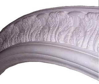 Oval Acanthus Ceiling Ring - Cast Plaster