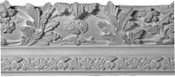 3-dimensional Sculpted Acanthus Leaves featured in this crown molding