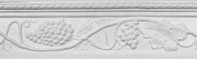 Decorative Molding with Grape Bunches, vines and leaves