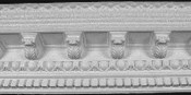 Very decorative Egg and Dart Crown Molding, with acanthus leaves, and mini-corbels