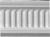 Fluted Plaster Dado (aka) Chair Rail Molding
