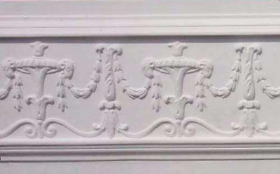 Bell Flowers, Acanthus, Scrolls and Swags Plaster Molding