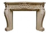 Decorative Cast Stone Mantel - Louis XIV MT1010