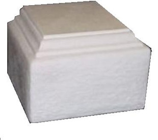 MT5B rectangular cast plaster base/plinth