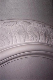 "This Ceiling Medallion is a ring with 87 1/4"" outside diameter, and 60"" inside diameter.  4 1/4"" height projection"