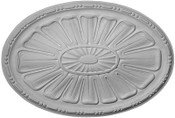 Contemporary Sunburst Oval Ceiling Medallion 25 x 17