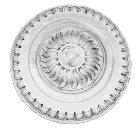 "Classic Egg and Dart Molding Ceiling Medallion - 16"" with a 4"" projection"