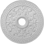 """Greek Key and Honeysuckle, small twisted rope ceiling medallion.  21"""""""
