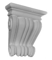 "Classic Scrolls are featured on our Corbel Bracket B10.  13"" Tall"