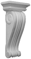 """Classic Scrolling details on this 14"""" tall corbel bracket"""