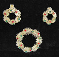Vingtage signed Dodds Christmas Pin and Earrings