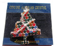 Austrian Crystal Christmas Tree Pin