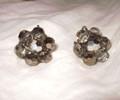 Vintage Silver AB Crystal Earrings