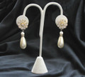 Vintage Rhinestone and Pearl Teardrop earrings