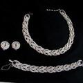 Vintage signed Ciner parure - necklace bracelet earrings set