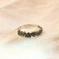 Sterling Marcasite Heart Ring