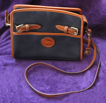 Navy Dooney & Bourke Shoulder Bag