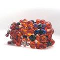 Amber multi-stone cuff bracelet