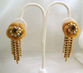 Vintage Unsigned Weiss Mesh Clip Earrings