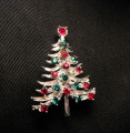 Vintage signed Mylu Christmas tree pin