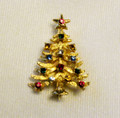 Signed vintage Eisenberg Ice Christmas Tree Pin