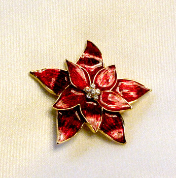 Eisenberg Ice Pointsettia Pin