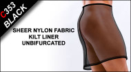 C353 Kilt Liner, Sheer Nylon