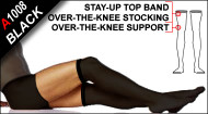 A1008 Thermofabric Over-the-knee Stay-up Opaque Support Stockings
