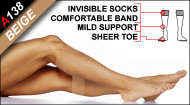 A138 Microfabric Light Support Sheer Knee High Socks