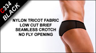 C334 Low Cut Briefs, Nylon Tricot