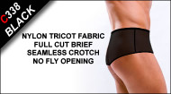 C338 Full Cut Briefs, Nylon Tricot